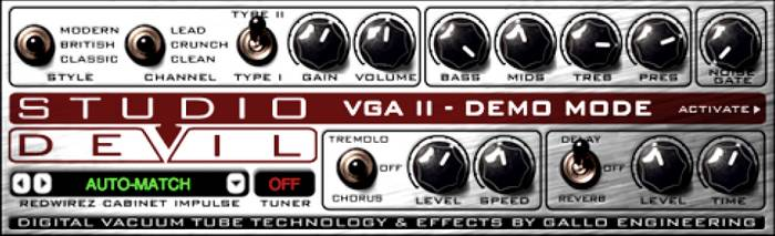 Studio Devil Virtual Guitar Amp II