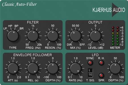 Kjaerhus Audio Classic auto-filter