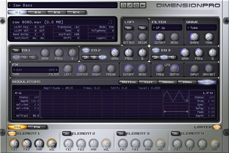 Synthé Dimension Pro - Preset Saw Bass